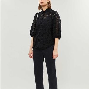 Ganni everdale lace shirt